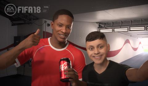 Welcome to the Coca-Cola family, Alex Hunter! #WelcomeAlex #CokeZeroSugar #FIFA18 (Photo: Business W ...