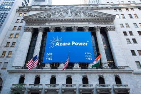 Azure Power   New York Stock Exchange (Photo: Business Wire)