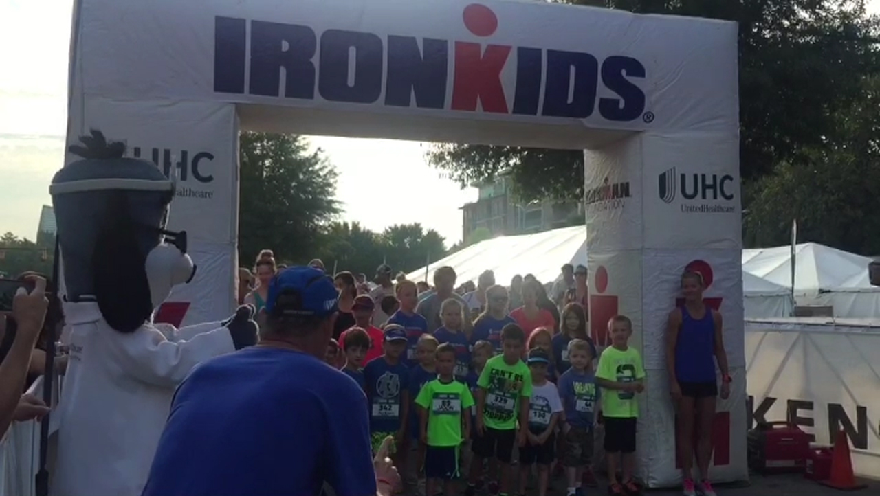 More than 350 kids crossed the finish line at the UnitedHealthcare IRONKIDS Chattanooga Fun Run today at Ross's Landing. UnitedHealthcare mascot Dr. Health E. Hound helped Sen. Bo Watson and Steve Podrasky of UnitedHealthcare kick off the fun run. This is the sixth year UnitedHealthcare is sponsoring IRONKIDS races in the United States (Video: Laura Elkins).