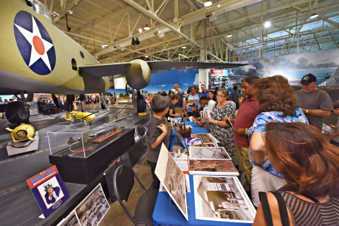 The Museum's first hangar, Hangar 37, packed with guests as Living History Day takes off! (Photo: Business Wire)