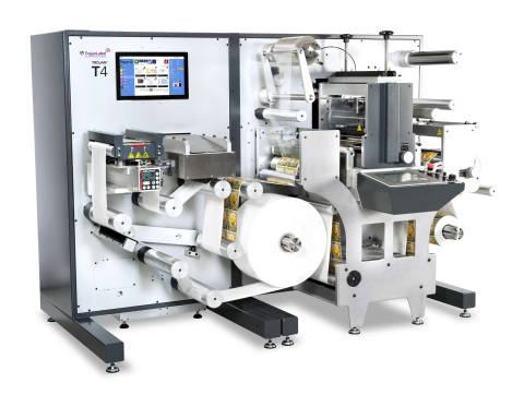 Designed for high capacity production, yet perfect for short label runs, the Trojan T4 label printing press and finishing system is fully integrated for efficient production and quick changeovers, to minimize downtime and optimize profitability. (Photo: Business Wire)