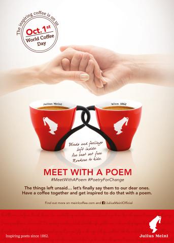 In migliaia riallacceranno i rapporti grazie all'iniziativa 'Meet with Poem' di Julius Meinl