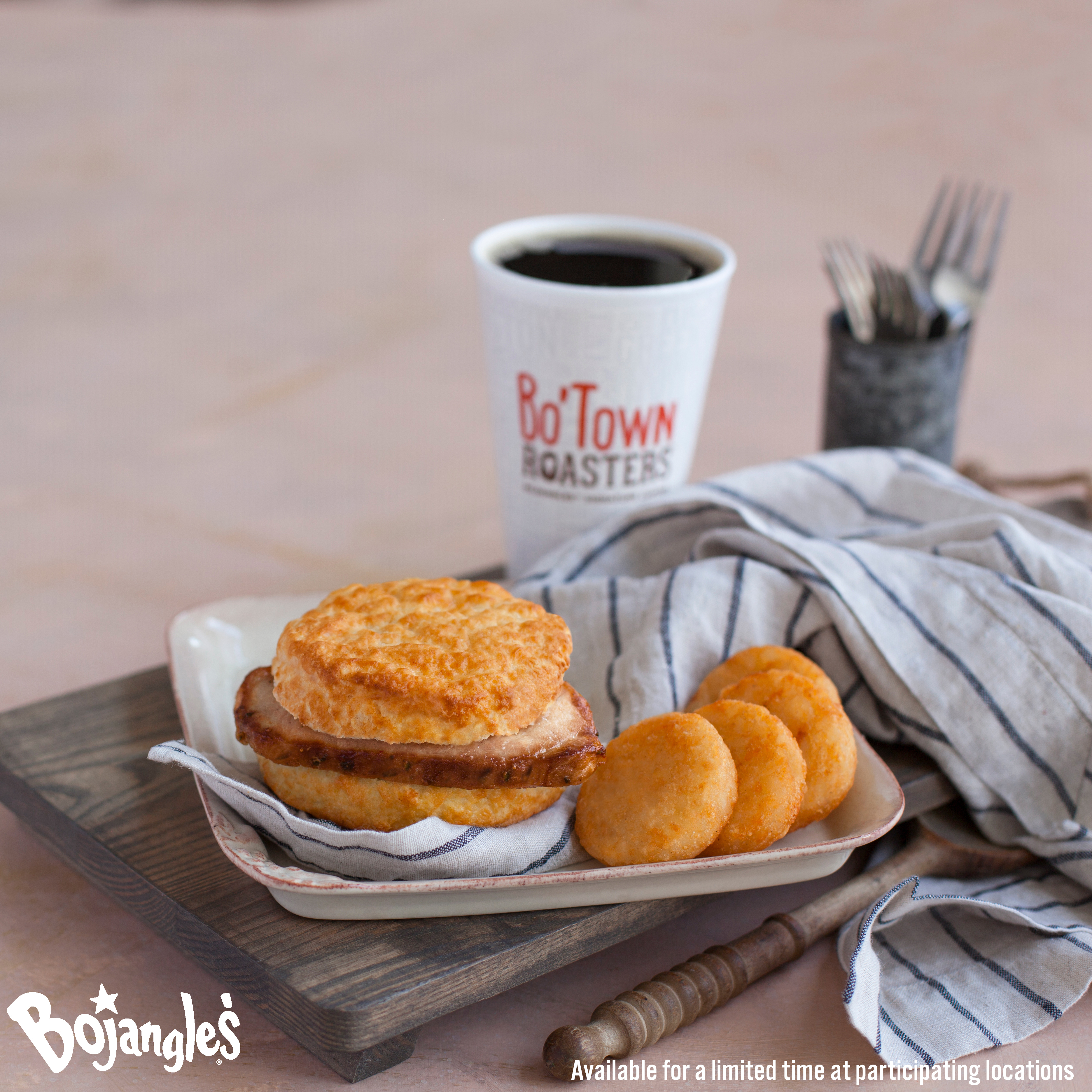 a two buck breakfast is available all day every day at bojangles