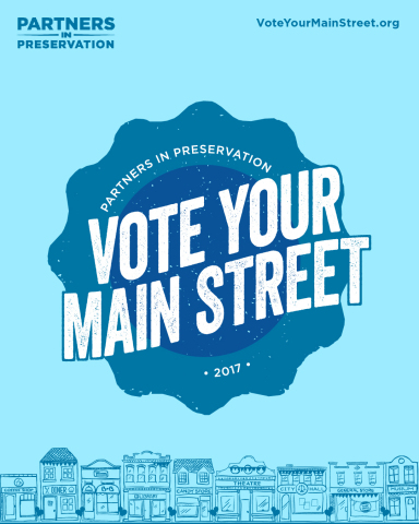 Partners in Preservation: Main Streets, will award $2 million in grants to Main Street districts in need of preservation support across America, as decided by public vote. For more information and to vote daily through October 31, visit VoteYourMainStreet.org. (Graphic: Business Wire)