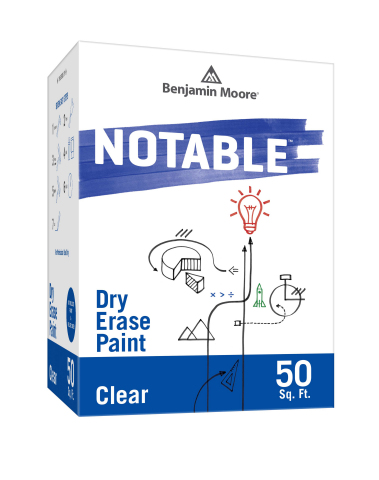 Notable™ Dry Erase Paint from Benjamin Moore -- a Premium Dry Erase Coating That Can Transform Almost Any Surface into a Dry Erase Board  (Photo: Benjamin Moore)