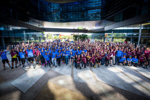 Samsung and Cisco help fundraise for childhood cancer research at St. Jude Children's Research Hospital. (Photo: Business Wire)
