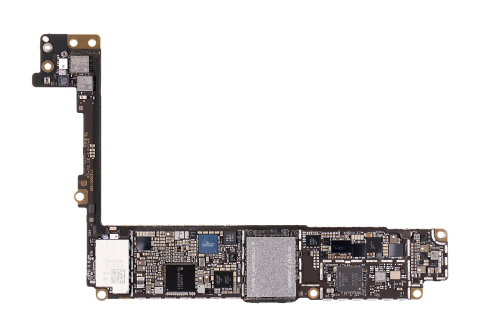 Printed circuit board, bottom view, iPhone 8 Plus Source: IHS Markit