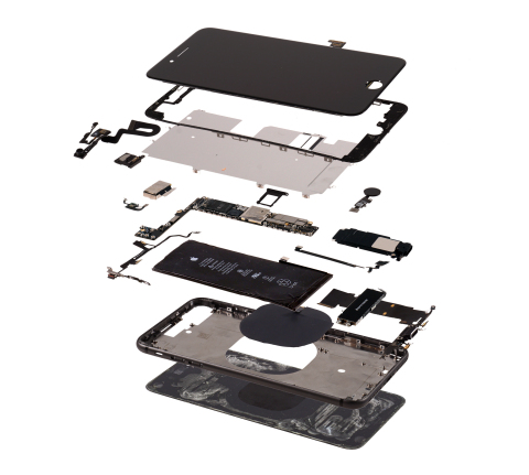 Exploded view, iPhone 8 Plus Teardown by IHS Markit