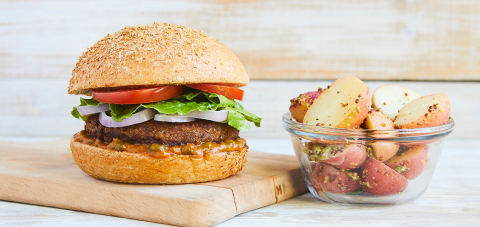 The Classic Beyond Burger with Red Potato Salad (Photo: Business Wire)