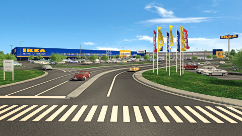 Swedish home furnishings retailer IKEA secures contractors for its future Norfolk store, opening Spring 2019, as 2nd store in VA. (Photo: Business Wire)