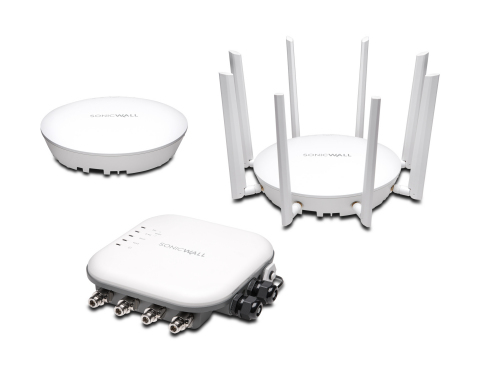 To complement the NSA 2650 appliance, the new SonicWave series of access points meets the 802.11ac Wave 2 wireless standard, which features 4x4 MU-MIMO technology for best-in-class Wi-Fi performance, range and reliability. (Photo: Business Wire)