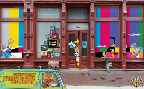 Bugs Bunny, Scooby-Doo, The Flintstones and other fan-favorite characters take over New York City October 6-8th with the Get Animated Invasion experiential pop-up from Warner Bros. Consumer Products, in partnership with Boomerang and BoxLunch. (Graphic: Business Wire)