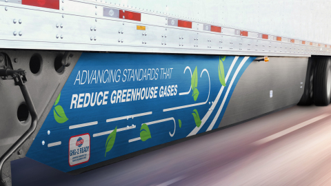Utility's Side Skirt has earned preliminary approval from the EPA as a GHG2 Aerodynamic Trailer Device. (Photo: Business Wire)