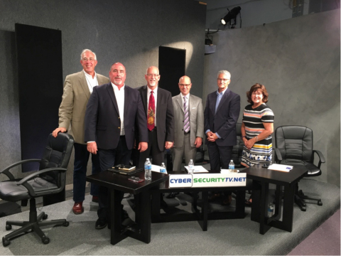 Tom Conklin (front left), with the judges: Dan Woolley, Mark Loepker, Steve Charles, Curtis Dukes, a ...