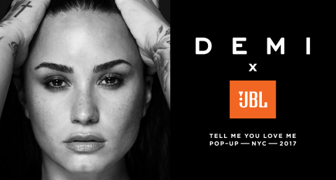 DEMI x JBL Tell Me You Love Me Pop Up (Graphic: Business Wire)