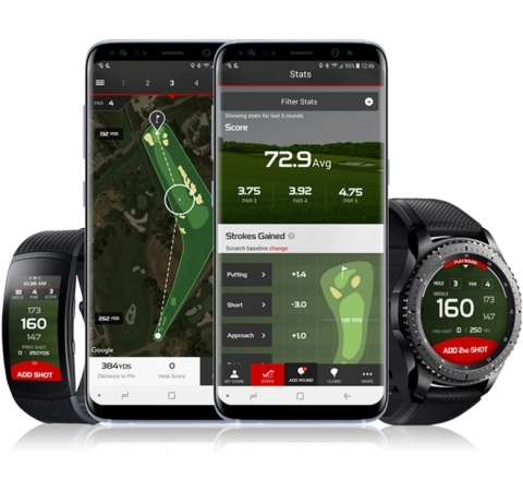 With the myRoundPro experience available on the Gear S3 and Gear Fit2 Pro, golfers of all skill levels can go hands-free while tracking their golf game (Photo: Business Wire)