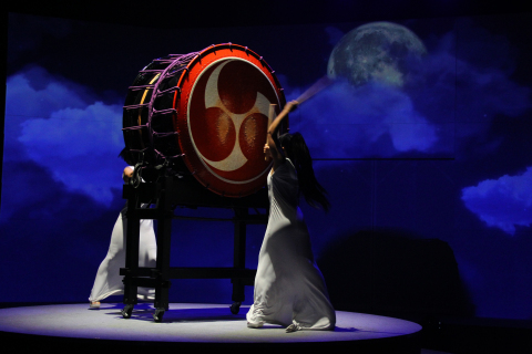 Evening Entertainment from DRUM TAO, a Japanese Drum Troupe. Combining the Traditional yet Avant-Garde Appeal of Japanese Drum Sounds with the Newest Visual Technology, Projection Mapping. (Photo: Business Wire)