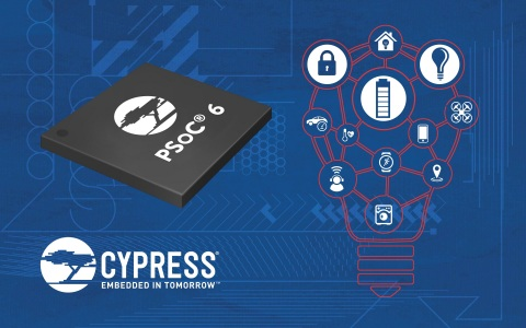 Pictured is Cypress' PSoC 6 IoT MCU. (Graphic: Business Wire)