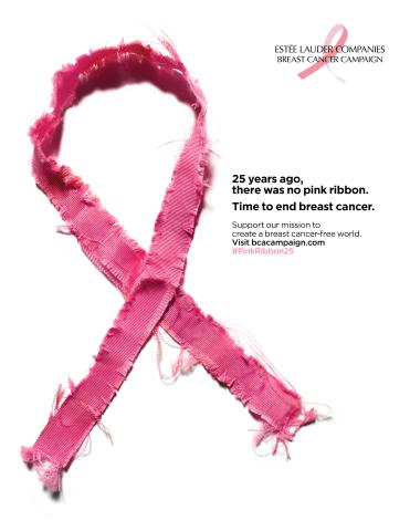 25 anos da fita rosa: a campanha da Estée Lauder Companies contra o câncer de mama chega a um quarto de século