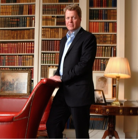 Charles, 9th Earl Spencer, brother of Diana, Princess of Wales and godson of Her Majesty the Queen, ...
