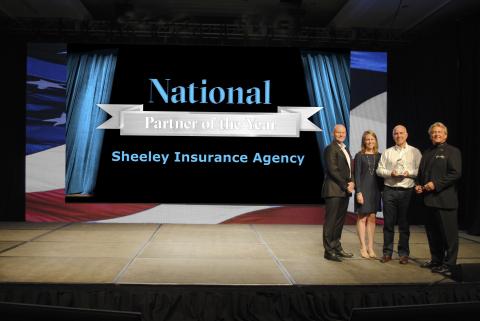 From left: Michael Reddy, Keystone senior vice president of field operations; Julie Webb, Keystone s ...