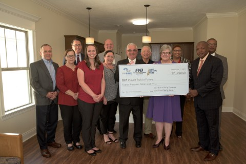 Affordable housing nonprofit Project Build a Future in Lake Charles, Louisiana, was awarded $20,000 in Partnership Grant Program (PGP) funds on September 27, 2017, which it will use for training, technology and marketing. The check presentation, held at a home built by Project Build a Future, was attended by representatives of State Senator Ronnie Johns' office (District 27), First National Bank of Louisiana, First Federal Bank of Louisiana and the Federal Home Loan Bank of Dallas. (Photo: Business Wire)