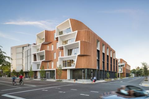 WoodWorks Wood Design Award – 2017 Winner; One North – Karuna East and West Buildings; Holst Archite ...