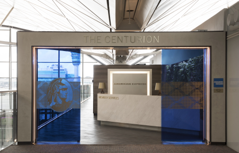 The Centurion Lounge at Hong Kong International Airport - Entry (Photo: Business Wire)