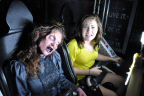 Don't look, even ghouls like riding the coasters at Six Flags Magic Mountain's Fright Fest, voted top Theme Park Halloween Event in 2017. (Photo: Business Wire)