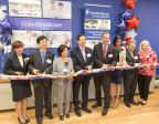 UnitedHealthcare executives and community leaders cut the ribbon today at the grand opening for the Bergen Asian Resource Center, which is the company's 10th storefront dedicated to serving Asian-American communities in the United States and the second store in New Jersey (Photo: Clutch Shot Pro).
