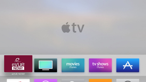 Evolution Digital's eVUE-NOW! on Apple TV (Photo: Business Wire)