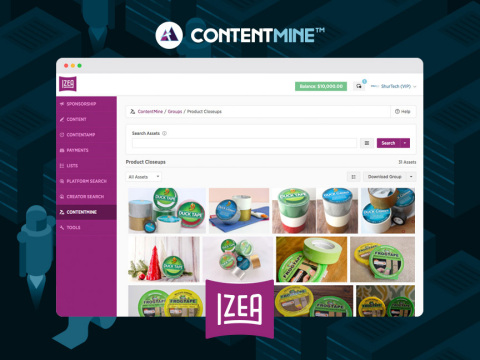 ContentMine™ helps marketers more easily find, organize and share content produced by Creators through the IZEAx platform. (Photo: Business Wire)