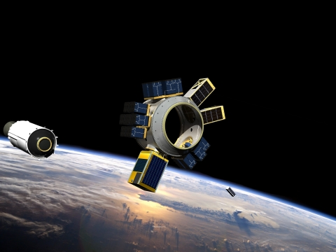 Spaceflight's SHERPA vehicle, a hosted payload and in-space transportation solution designed to take smallsats to orbit (Photo: Business Wire)