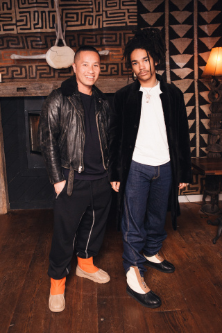 Phillip Lim and Luka Sabbat at the UGG x 3.1 Phillip Lim collaboration launch event at The Crow's Nest in Montauk, NY (Photo: Hagop Kalaidjian / BFA)