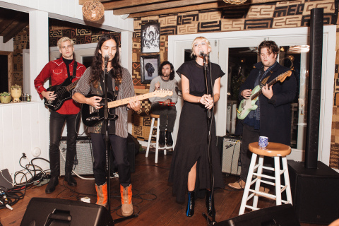 The band Girlyboi performing at the UGG x 3.1 Phillip Lim collaboration launch event at The Crow's Nest in Montauk, NY (Photo: Hagop Kalaidjian / BFA)