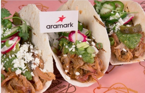 To kick off arena season, Aramark -- the food and beverage provider at nine NHL and NBA arenas -- is ...