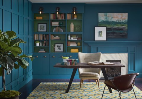 Sherwin-Williams 2018 Color of the Year, Oceanside SW 6496. (Photo: Business Wire)