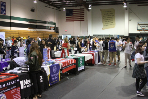 Attendees tour the school and meet more than 100 top colleges and universities at the annual Fall Open House & College Fair at Fairmont Preparatory Academy in Anaheim. (Photo: Business Wire)