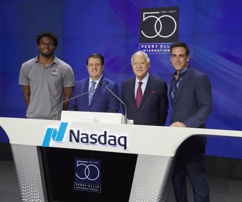 Justise Winslow, Oscar Feldenkreis, George Feldenkreis, and Carlos Ponce. (Photo: Business Wire)