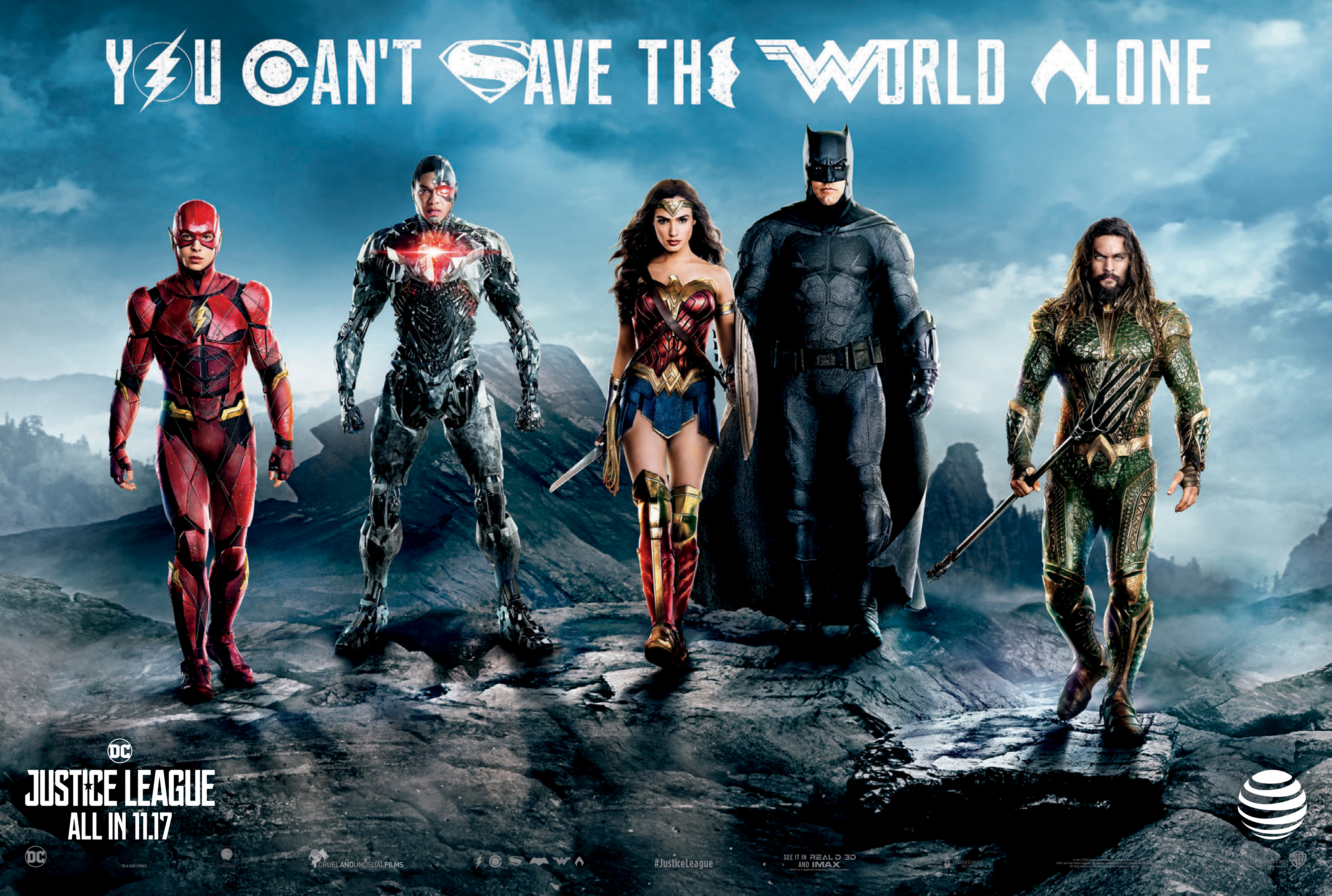 "Warner Bros. Pictures\' ""Justice League"" Teams Up with AT&T to Take ..."