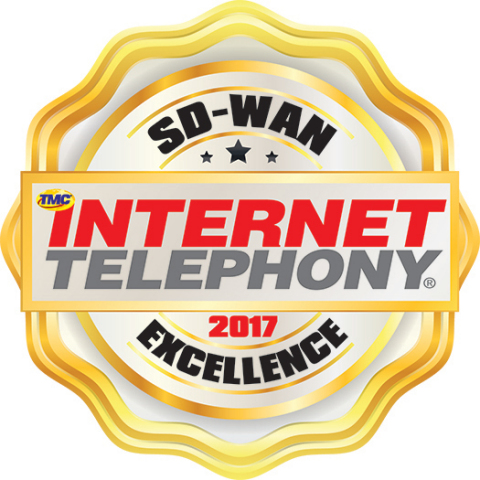 VeloCloud and four of its partners earned 2017 INTERNET TELEPHONY SD-WAN Excellence Awards for innovation and execution of VeloCloud Powered SD-WAN solutions. (Graphic: Business Wire)