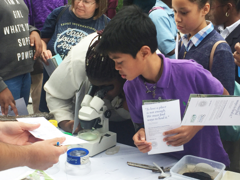 Axalta partnered with Stroud Water Research Center to host STEM programming for Young Men and Women in Charge students. (Photo: Axalta)