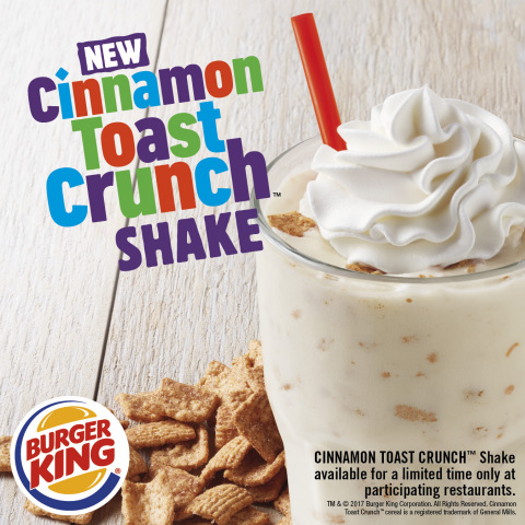 BURGER KING® Restaurants Introduce New Cinnamon Toast Crunch™ Shake (Photo: Business Wire)
