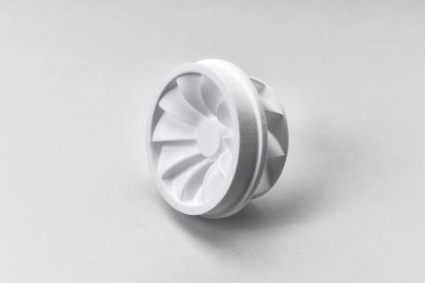 PPC²を使用した3Dプリンターで製造されたインペラー(写真:ビジネスワイヤ)