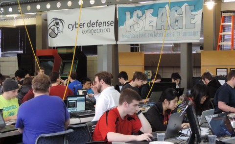 Students test their skills in ISEAGE competition against real cyber security professionals using ShieldX real time detection solutions (Photo: Business Wire)
