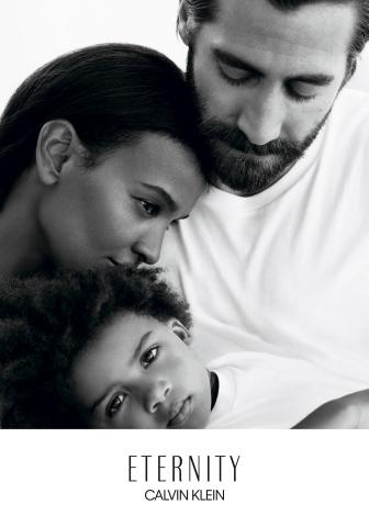 Actor Jake Gyllenhaal and model Liya Kebede as faces of ETERNITY Calvin Klein (Image Credit: © 2017 Willy Vanderperre)