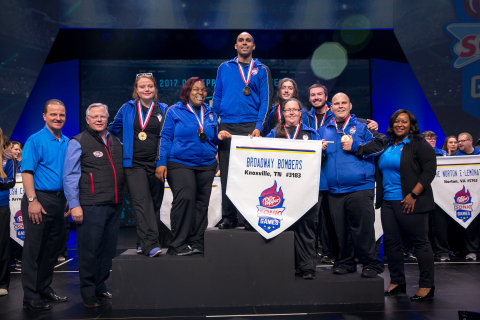 The SONIC® Drive-In crew at 3307 North Broadway in Knoxville, Tenn., took home the championship title and gold medals at this year's annual DR PEPPER SONIC GAMES competition in Denver, Colo. (Photo: Business Wire)
