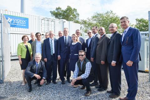 Kneeling David Vieau, Board member, Vionx, JD Willingham Left to right: Katherine Holliday, Vionx, L ...