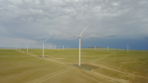 Tsetsii Wind Farm in the Gobi Desert of Mongolia (Photo: Business Wire)