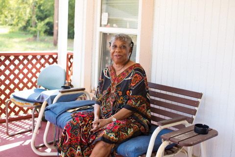 """Dorothy Woods, 76, of Tyler, Texas, said her new roof is a """"blessing."""" The work was covered by a grant from the Federal Home Loan Bank of Dallas and Southside Bank. Habitat for Humanity of Smith County facilitated the installation, which was recently completed. (Photo: Business Wire)"""